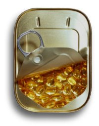 fish-oil in a tin