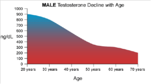 testosterone decline over age
